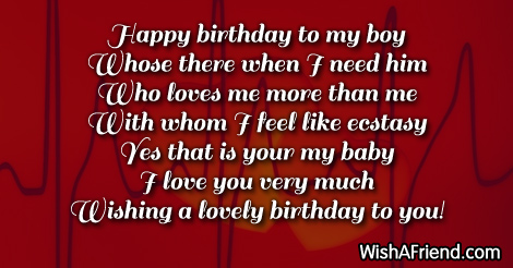 happy birthday to my baby boy ; 14884-birthday-wishes-for-boyfriend
