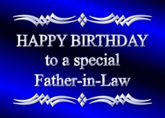 happy birthday to my father in law ; Special-father-in-law