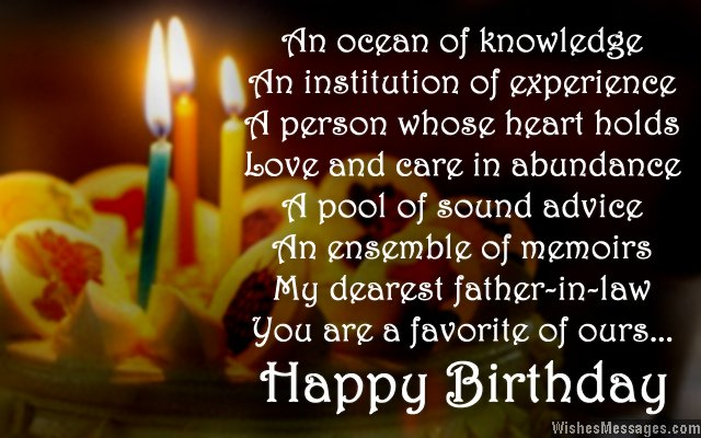 happy birthday to my father in law ; Sweet-birthday-wishes-for-father-in-law