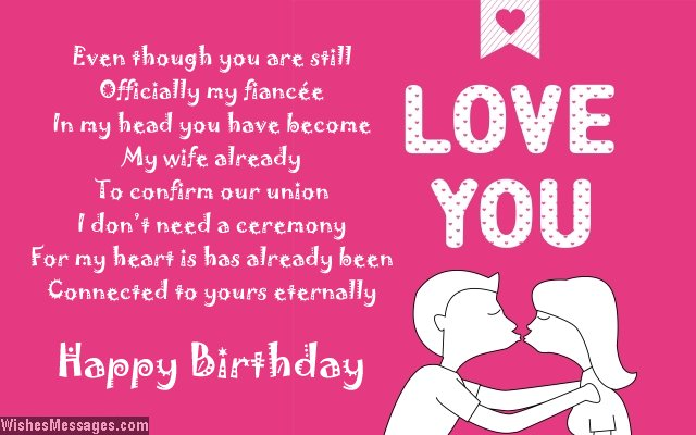 happy birthday to my fiance ; Cute-birthday-poem-for-fiancee