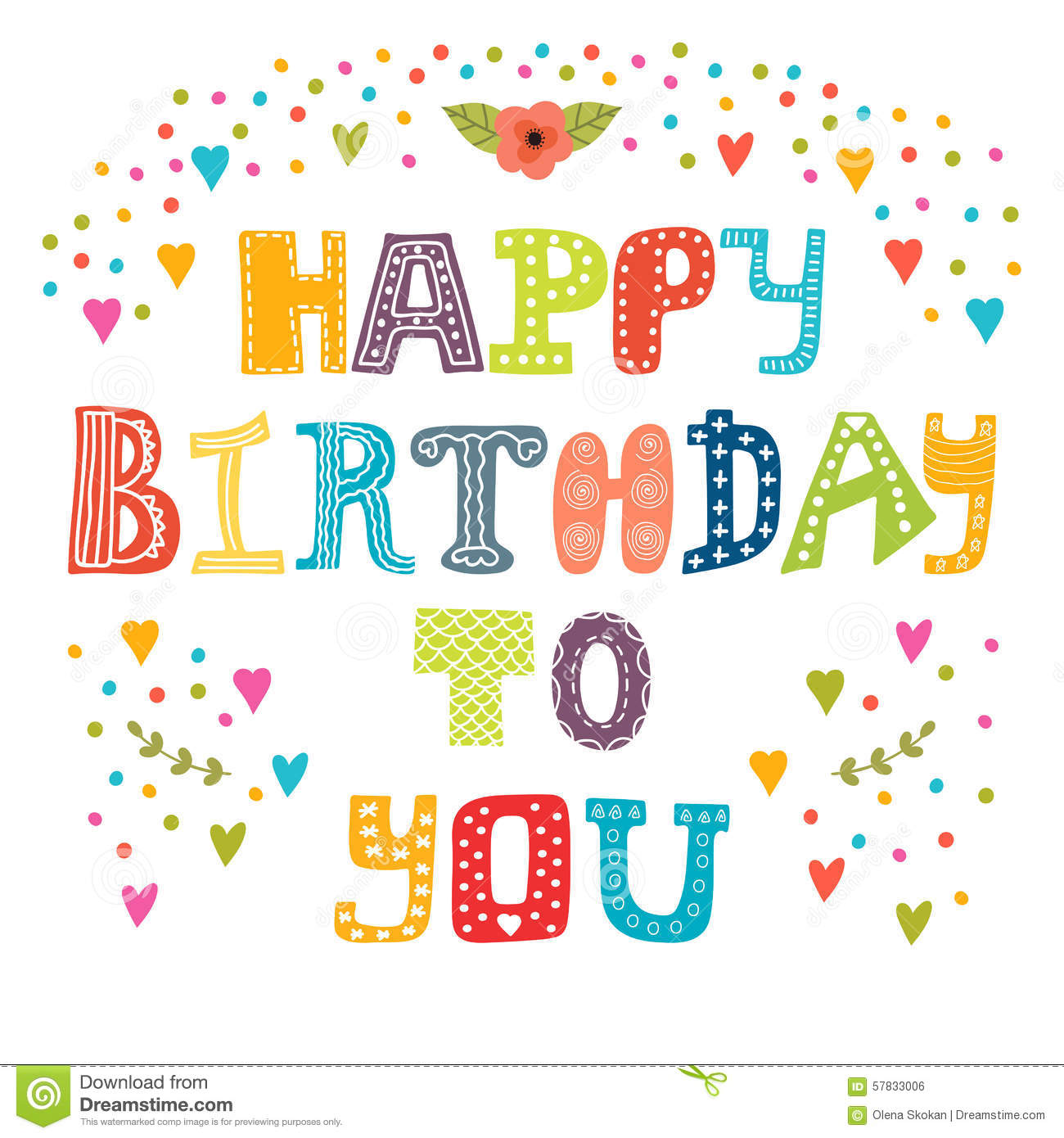 happy birthday to you pic ; happy-birthday-to-you-cute-greeting-card-vector-illustration-57833006