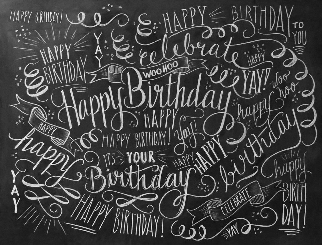 happy birthday typography ; 12450cd429f407f0e4583349683e8d3f