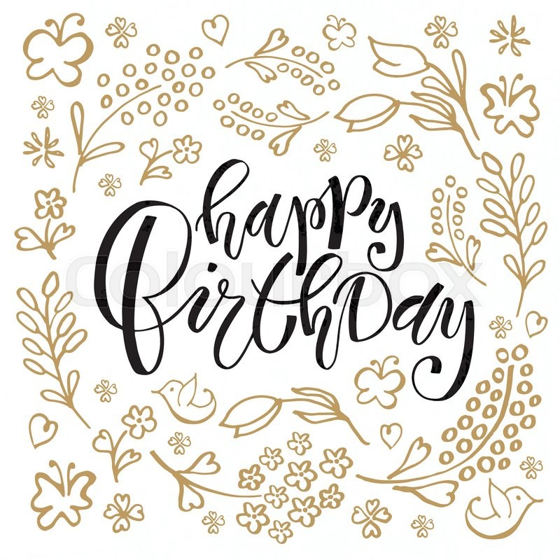 happy birthday typography ; 18870218-happy-birthday-lettering-typography