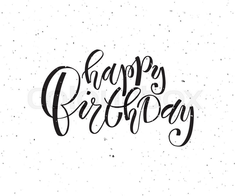 happy birthday typography ; 18870221-happy-birthday-lettering-typography