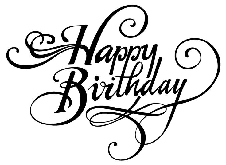 happy birthday typography ; 2bac0b9eb9ebfe061b9a78f34b025d46