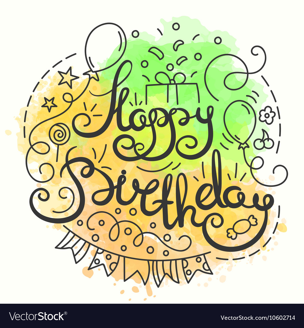 happy birthday typography ; happy-birthday-typography-design-letering-card-vector-10602714