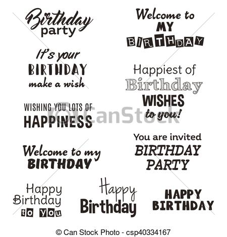 happy birthday typography ; happy-birthday-typography-text-isolated-clip-art-vector_csp40334167