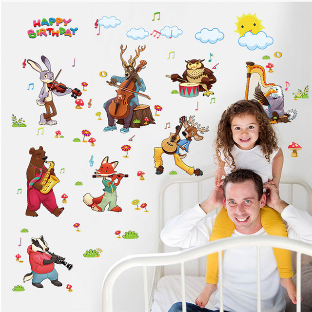 happy birthday wall posters ; Happy-Birthday-Aimail-Concert-Vinyl-Wall-Stickers-for-Kids-Room-Removable-Waterproof-Art-Decal-Poster-Nursery