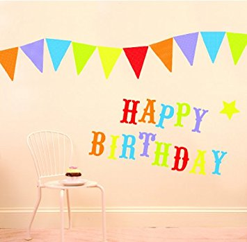 happy birthday wall stickers ; 41YcHpnlpjL