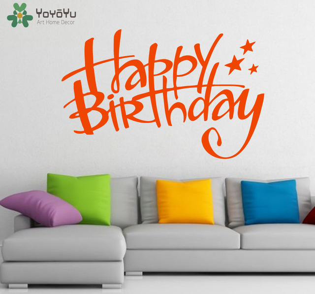 happy birthday wall stickers ; Happy-Birthday-Wall-Decal-Home-Decoration-Accessories-For-Kids-Rooms-Baby-Birthday-Wall-Stickers-Interior-Removable