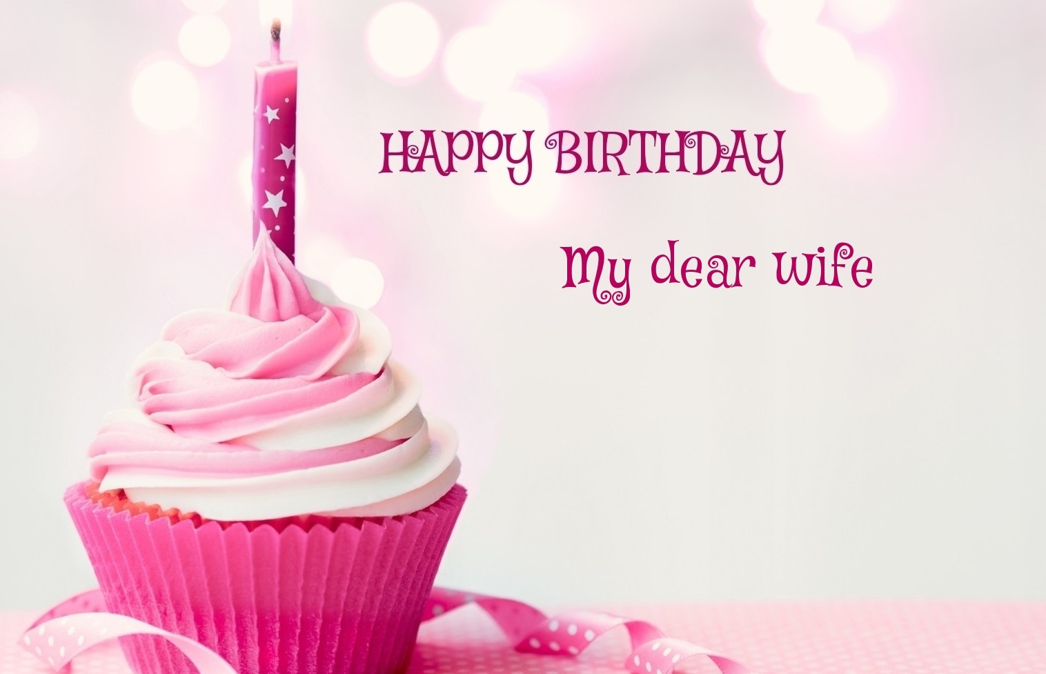 happy birthday wife images ; happy-birthday-cupcake-candle-pink-picture-for-My-dear-wife