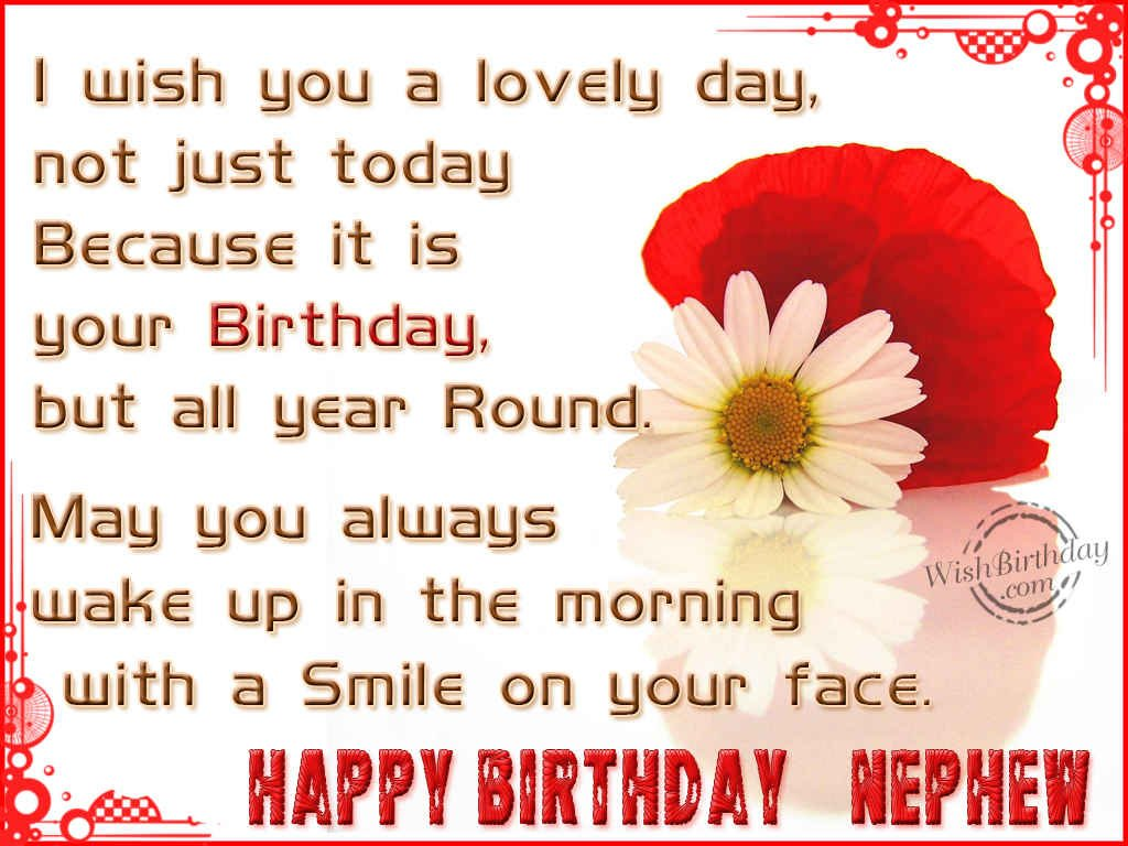 happy birthday wishes for nephew in english ; 961