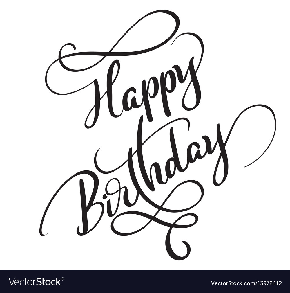 happy birthday words ; happy-birthday-words-isolated-on-white-background-vector-13972412