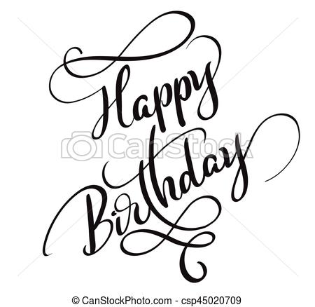 happy birthday words ; happy-birthday-words-isolated-on-white-vector-clipart_csp45020709