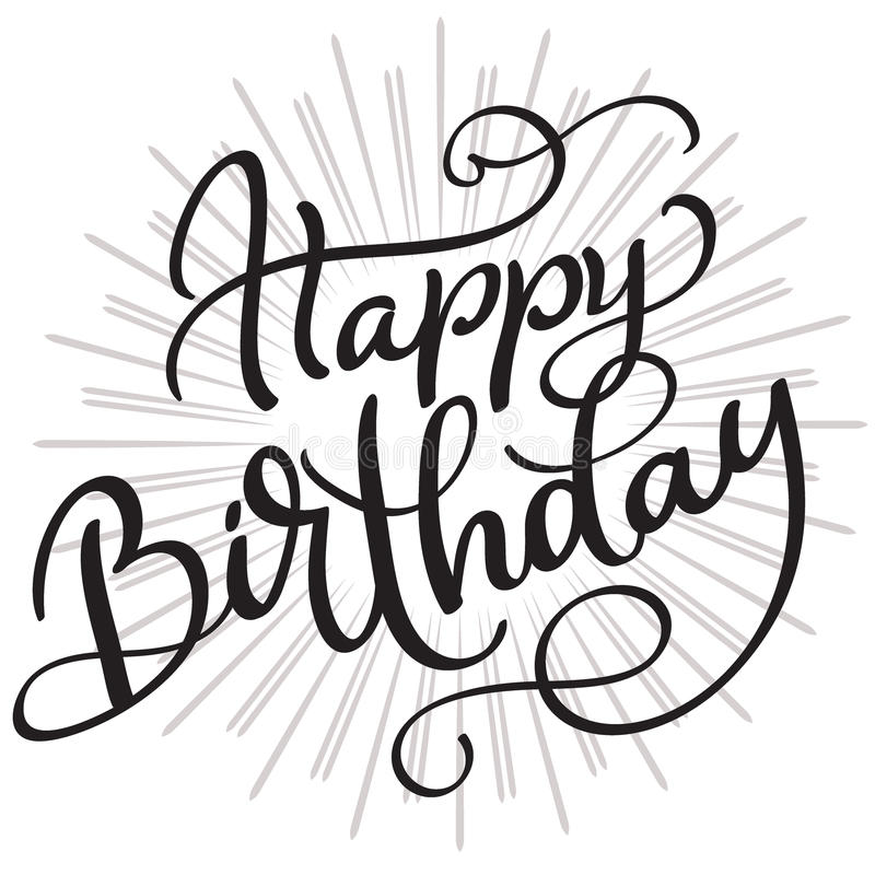 happy birthday words ; happy-birthday-words-white-background-hand-drawn-calligraphy-lettering-vector-illustration-eps-97514702