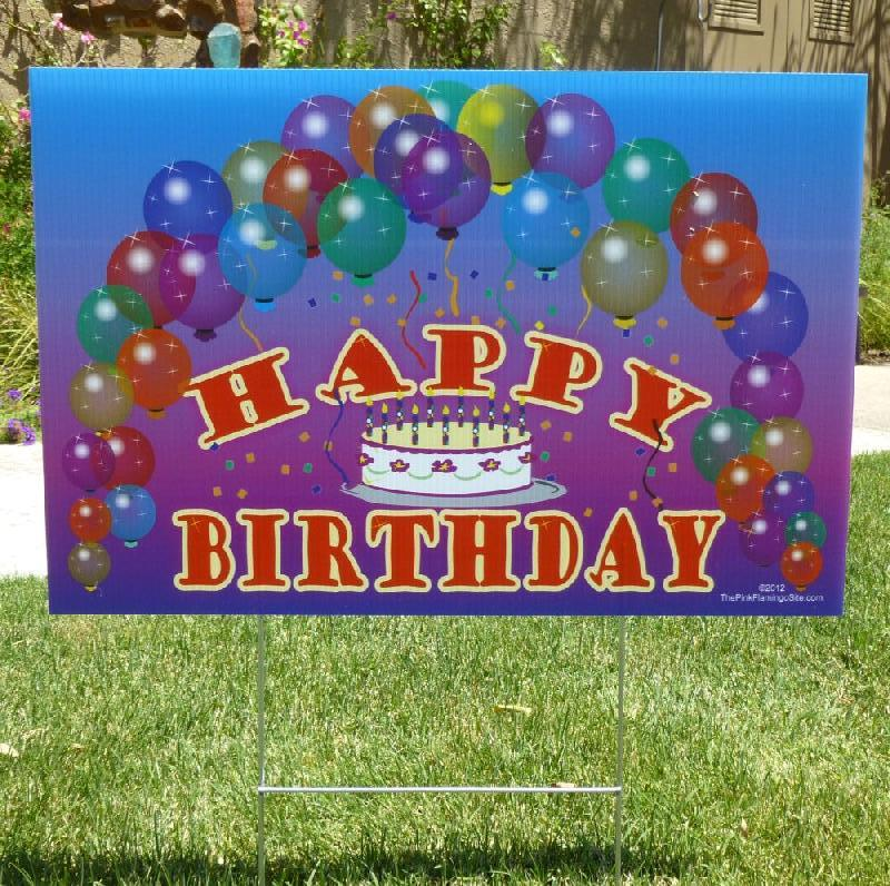 happy birthday yard signs ; candles_and_sign_006