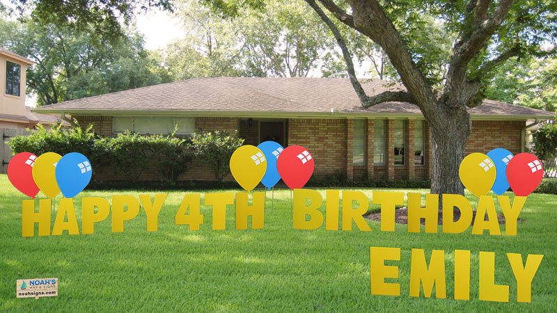 happy birthday yard signs ; house-happy-birthday-yellow