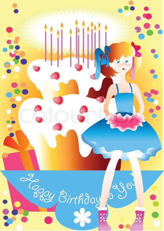 happy birthday young girl ; 3147774-this-is-the-congratulation-happy-birthday-for-the-young-girl