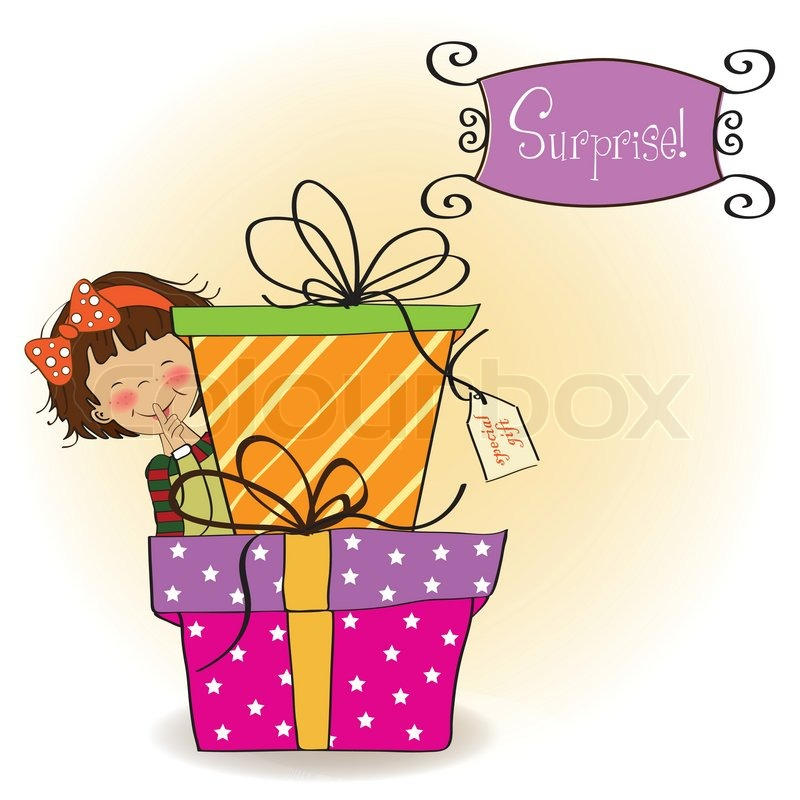 happy birthday young girl ; 3992652-cute-little-girl-hidden-behind-boxes-of-gifts-happy-birthday-greeting-card