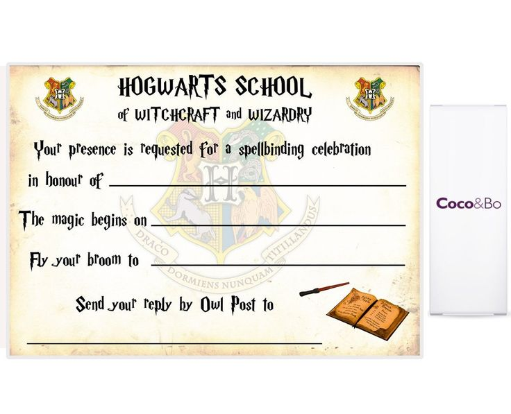 Harry Potter Birthday Invitations Free Printable Ticket Invitation