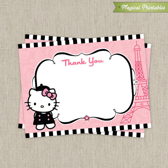 hello kitty birthday card printable free ; hello-kitty-paris-thank-you-card