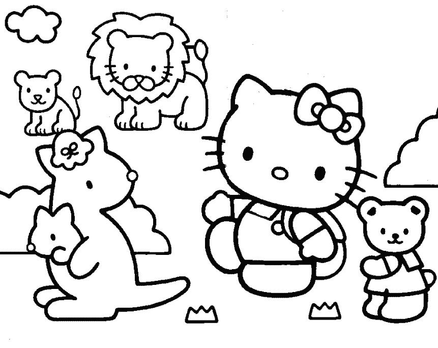 hello kitty birthday party coloring pages ; Hello-Kitty-coloring-pages-1