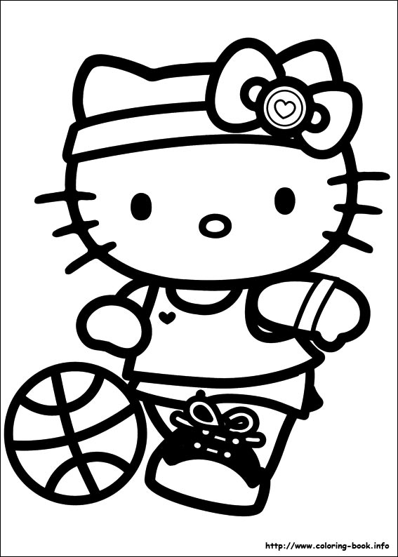 hello kitty birthday party coloring pages ; Hello-Kitty-coloring-pages-2