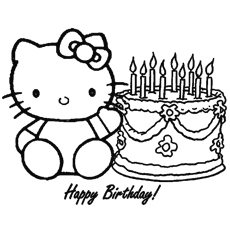 hello kitty birthday party coloring pages ; The-Hello-Kitty-Happy-Birthday-color