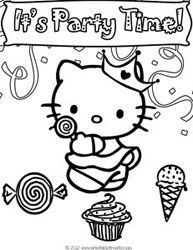 hello kitty birthday party coloring pages ; b4178cfd191212d0d11470904cde0cc1