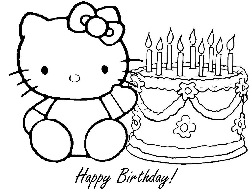 hello kitty happy birthday coloring ; 1bd602910f7770889f046e247774203b