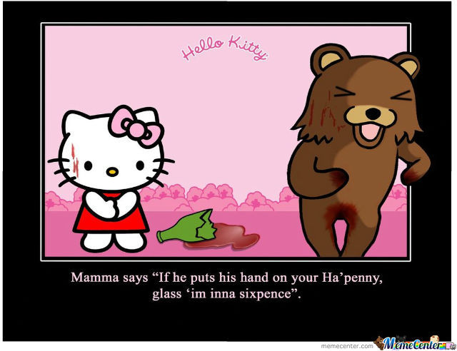 hello kitty happy birthday meme ; hello-kitty-pedobear-not-own-work_o_1175020