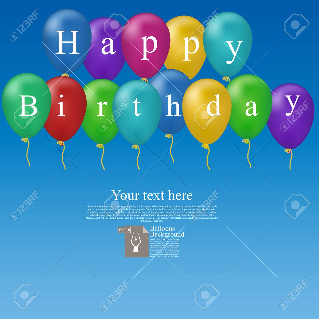 high quality birthday images ; 69438807-high-quality-original-trendy-vector-color-happy-birthday-balloons-with-place-for-text-can-be-used-fo