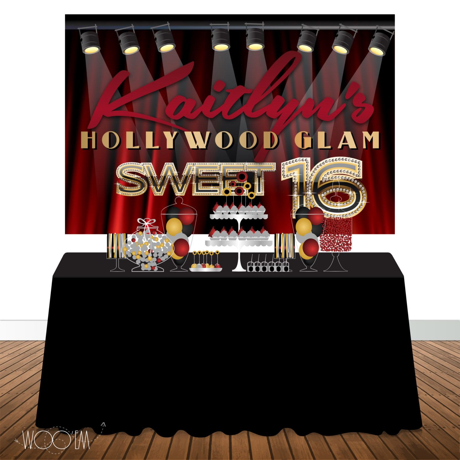 hollywood birthday banner ; 3a4501c82aa102625be40d3374676e29