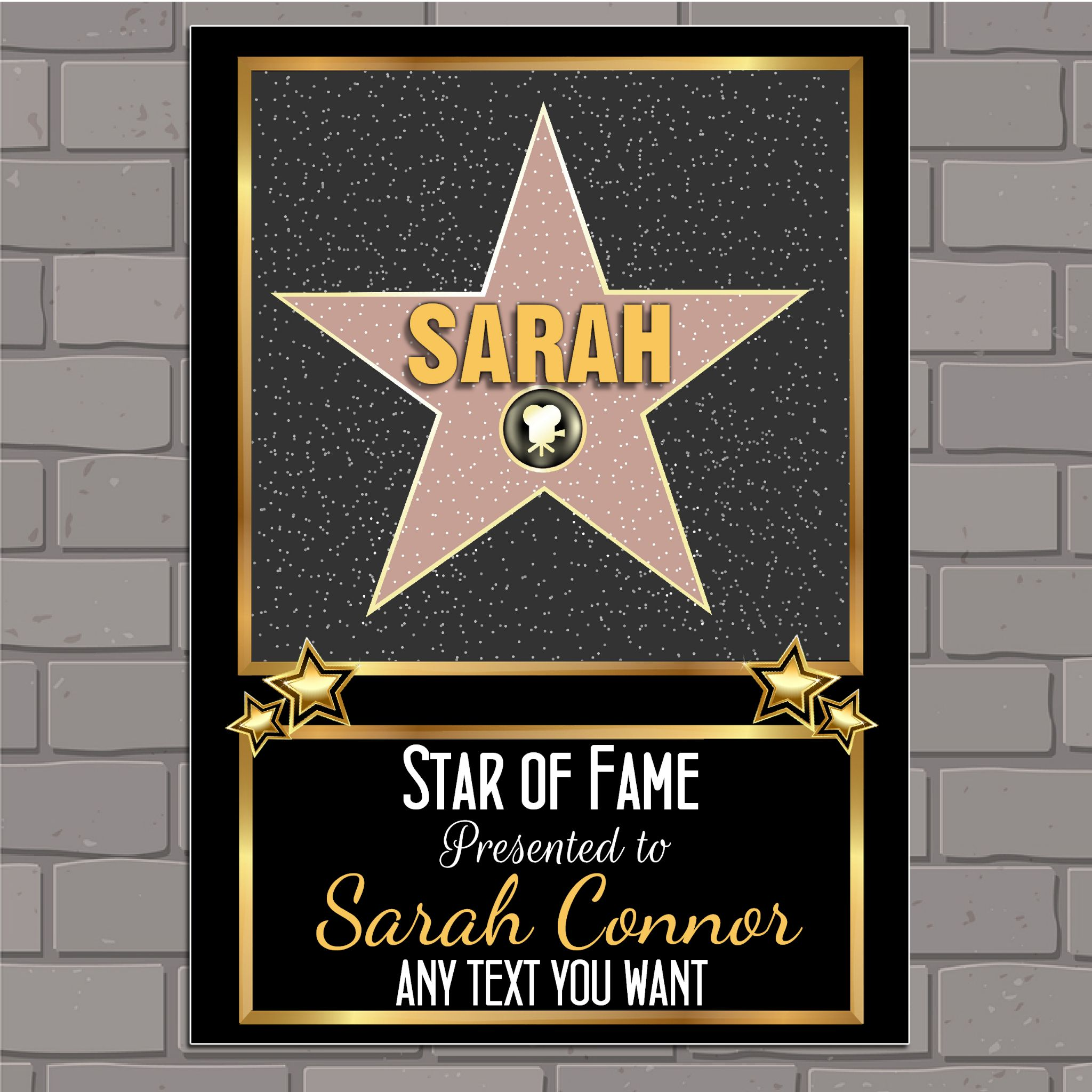 hollywood birthday banner ; personalised-hollywood-star-happy-birthday-poster-banner-n166-size-a1-59