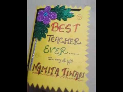 homemade birthday greeting cards for teacher ; hqdefault