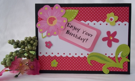 homemade greeting cards for birthday ; bday-pink-tropical-die-cut-flowers-websm