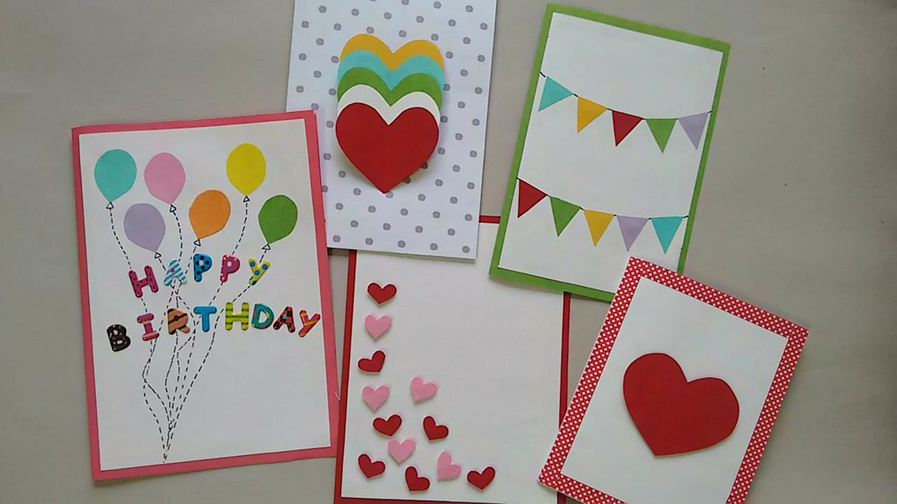 homemade greeting cards for birthday ; maxresdefault