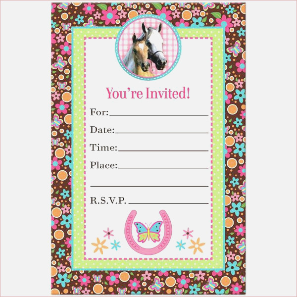 It is a photo of Horse Birthday Invitations Free Printable within cooking birthday