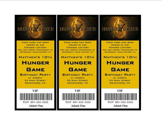 hunger games themed birthday card ; 0bb7f42decb4f7c67f5119ec1f901b6c--birthday-party-invitations-birthday-parties