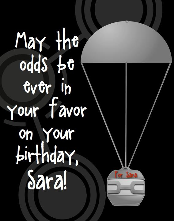 hunger games themed birthday card ; HungerGamesBirthdayCard