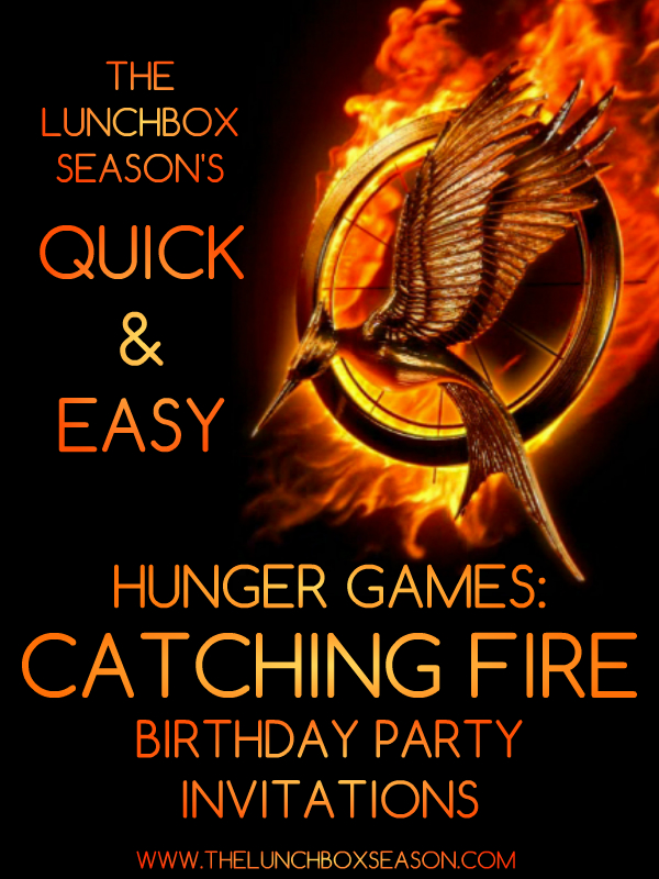 hunger games themed birthday card ; QUICKANDEASUHUNGERGAMESINVITES