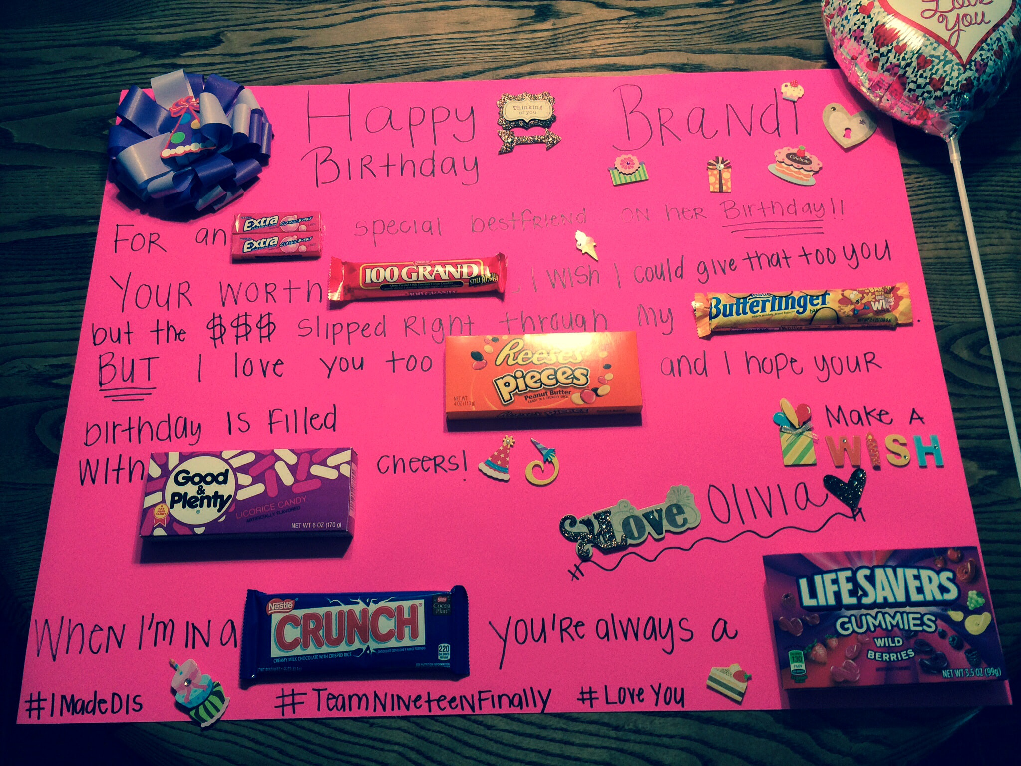ideas for a birthday poster ; adorable-how-to-make-a-birthday-poster-and-creative-ideas-of-candy-bar-poster-posters-18
