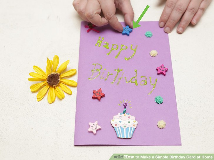 ideas for making birthday greeting cards at home ; how-to-make-a-greeting-card-4-ways-to-make-a-simple-birthday-card-at-home-wikihow-ideas