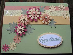 ideas for making birthday greeting cards at home ; lovely-birthday-card-with-3dimension-flowers-decoration-vintage-colored-unique-and-textured-style-design-your-own-birthday-card