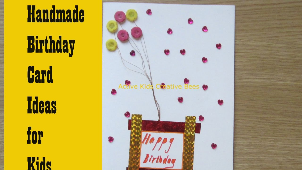 ideas for making birthday greeting cards at home ; maxresdefault