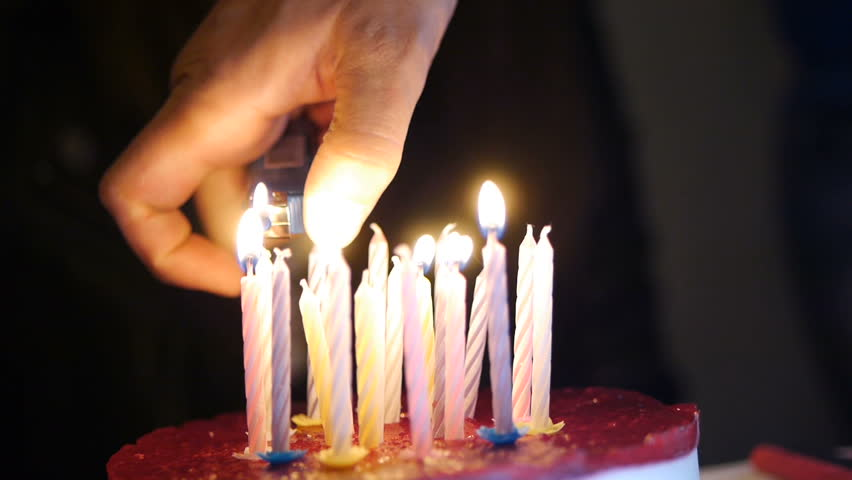 image of a birthday candle ; 1