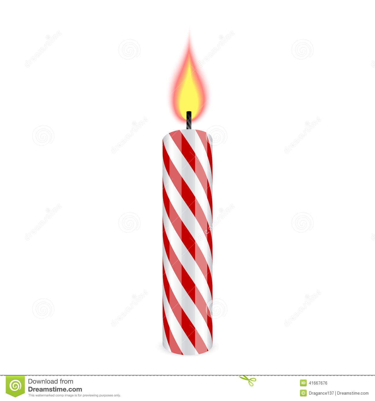 image of a birthday candle ; birthday-candle-red-white-burning-41667676