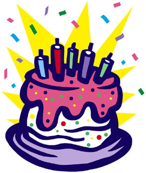 it's my birthday clipart ; birthday-cake-clipart-with-streamers