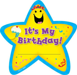 it's my birthday stickers ; 107555ba6af6b0037