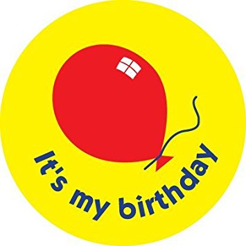 it's my birthday stickers ; 41K8tPa63tL